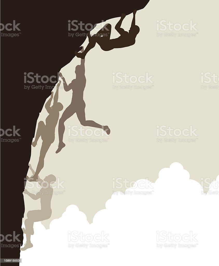 Free climb vector art illustration