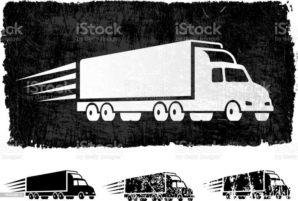 Free Delivery Freight Truck royalty free vector Background vector art illustration