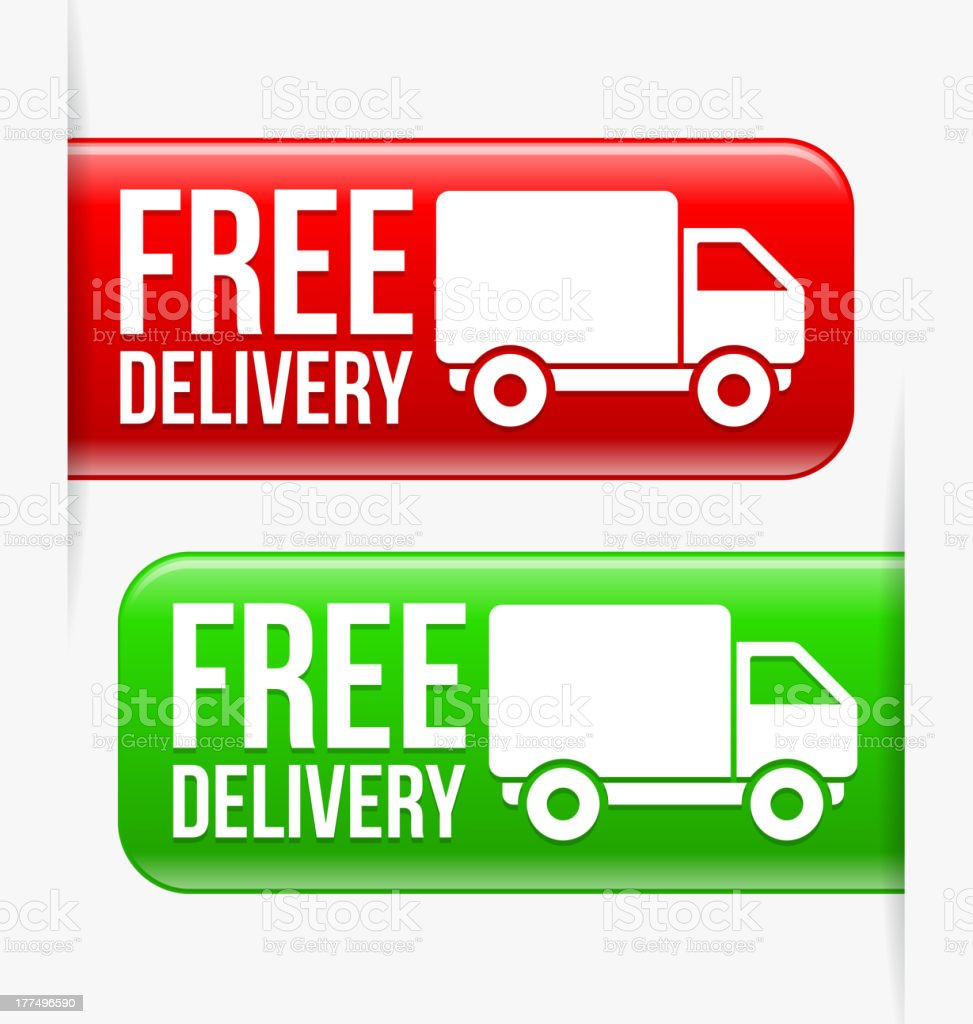Free delivery royalty-free stock vector art
