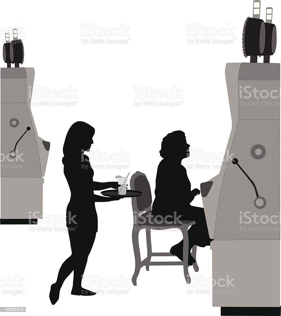Free Drinks Vector Silhouette royalty-free stock vector art