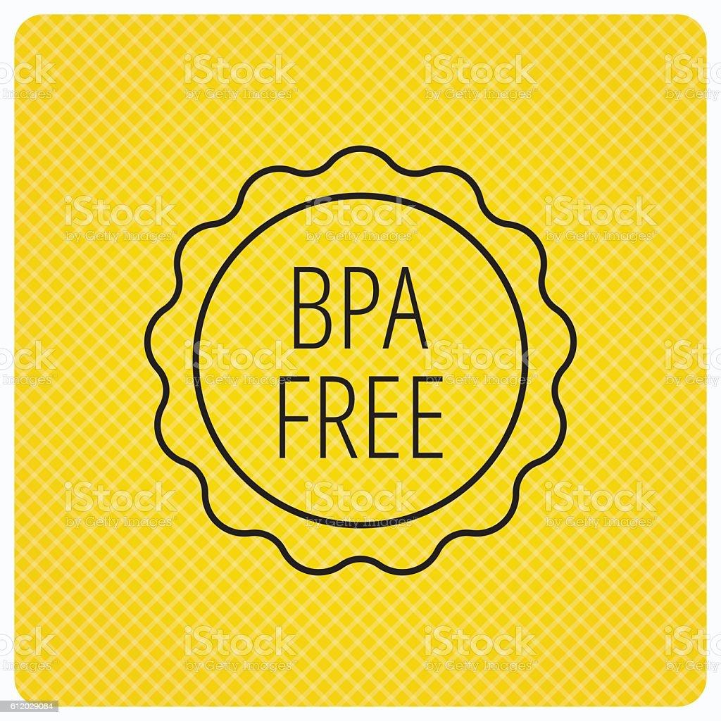BPA free icon. Bisphenol plastic sign. vector art illustration