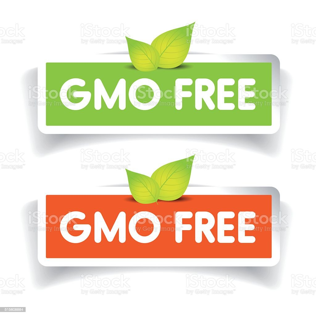 GMO free label vector set vector art illustration