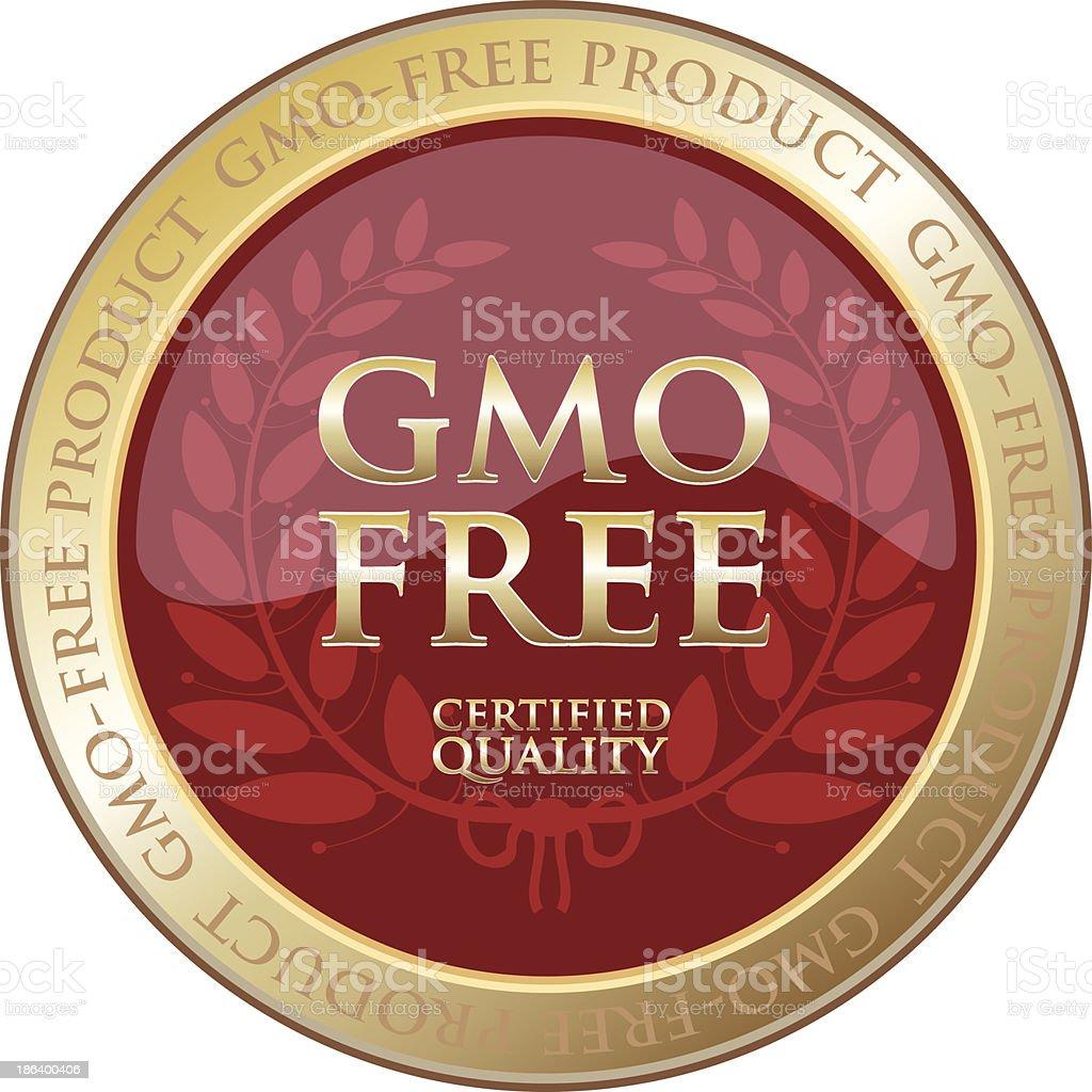 GMO Free Product Label vector art illustration
