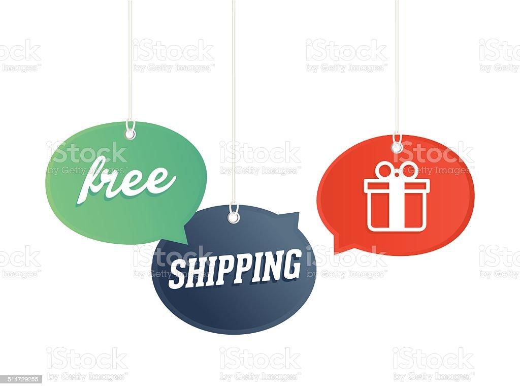 Free Shipping! vector art illustration