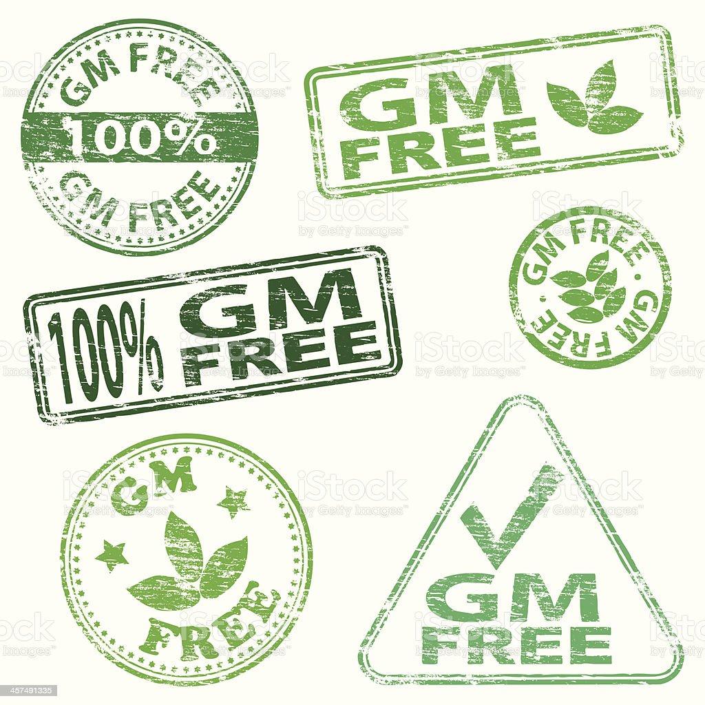 G M Free Stamps vector art illustration