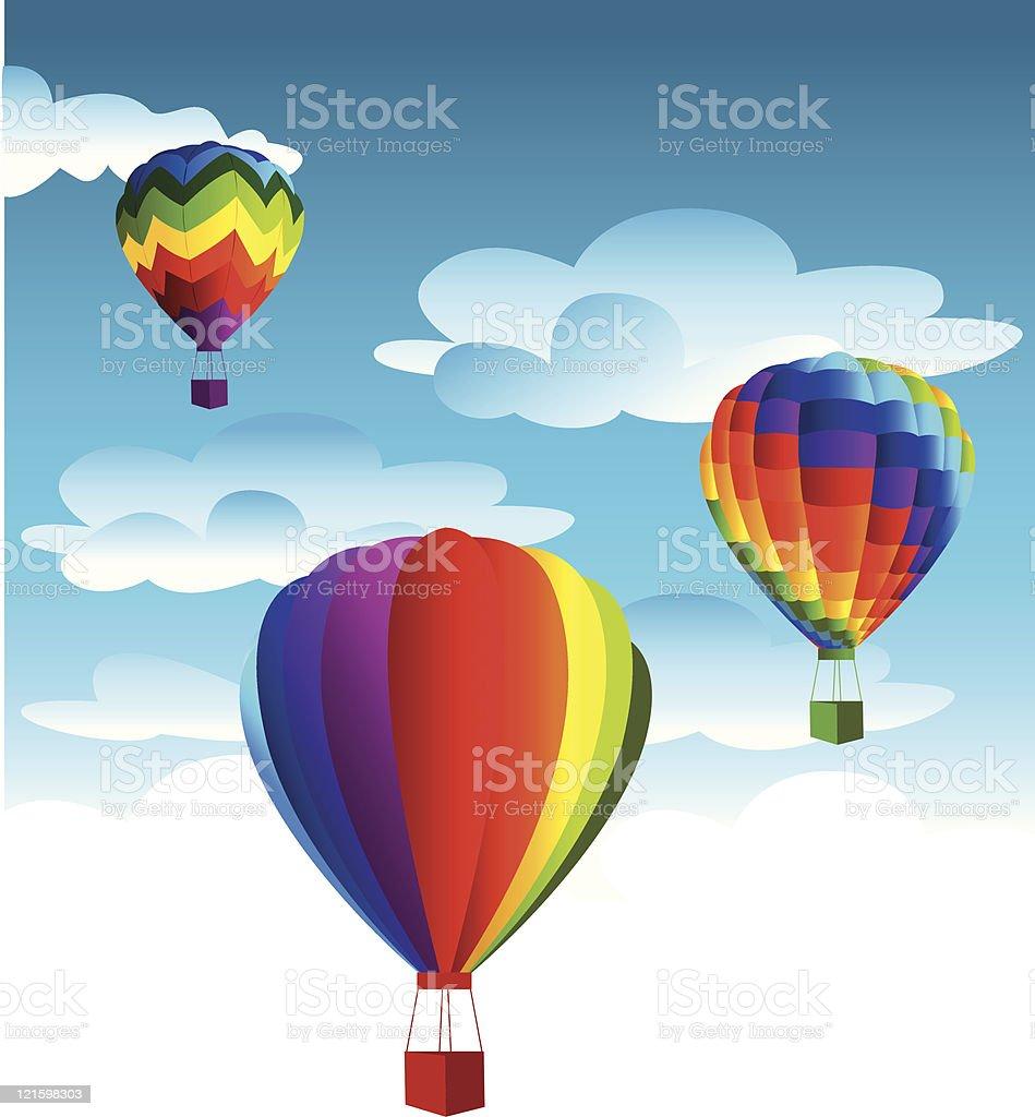 freedom balloons royalty-free stock vector art