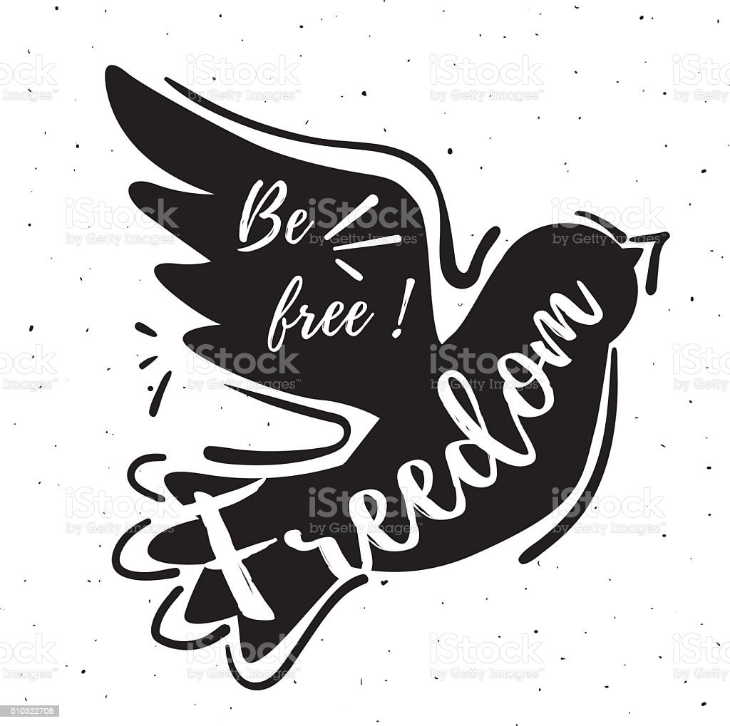 concept de la Liberté stock vecteur libres de droits libre de droits