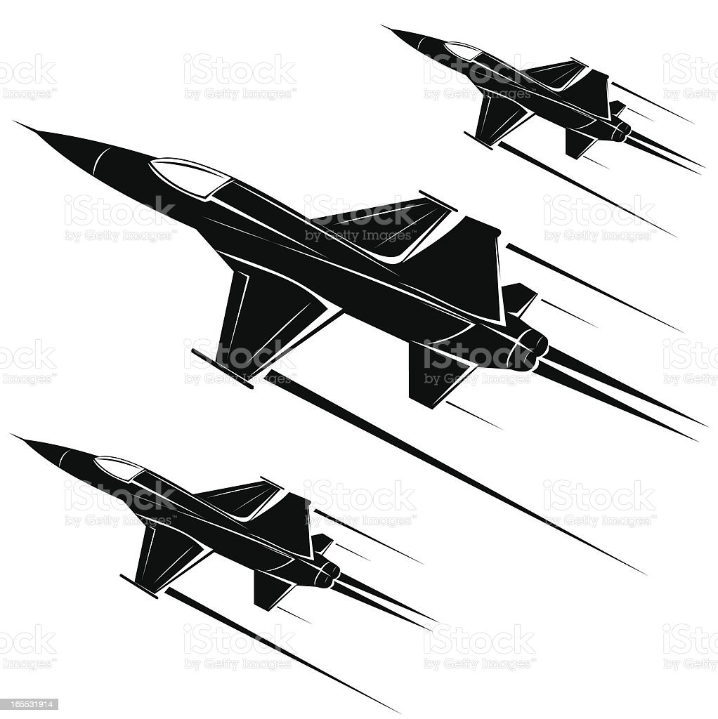 F-5A freedom fighter royalty-free stock vector art