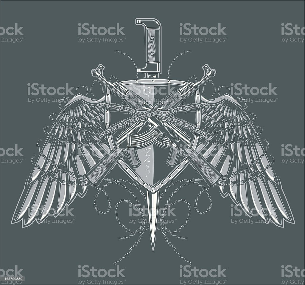 freedom fighters crest royalty-free stock vector art