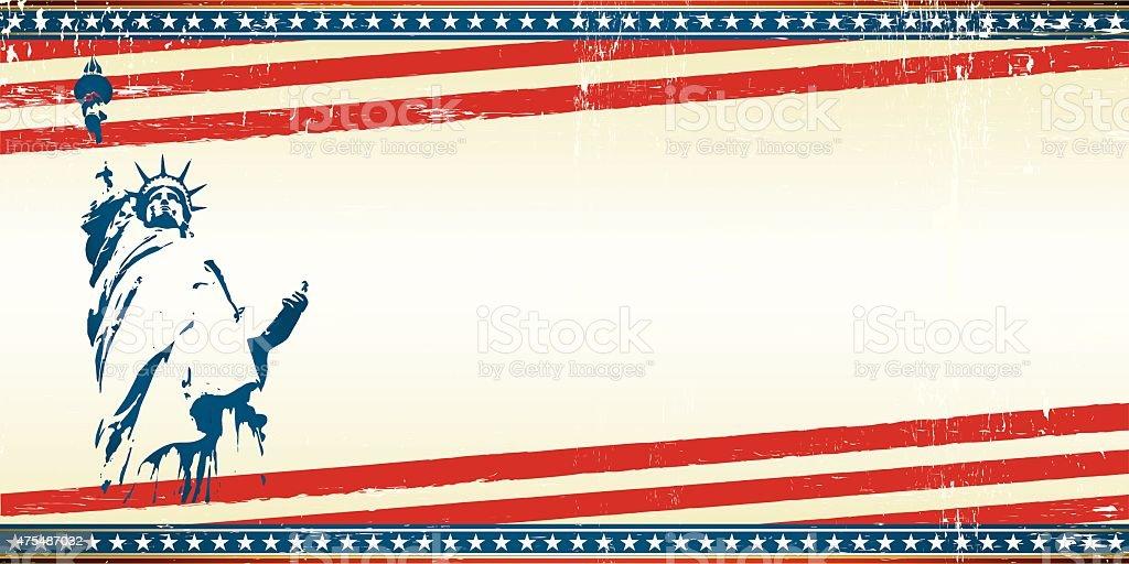 freedom greeting card vector art illustration