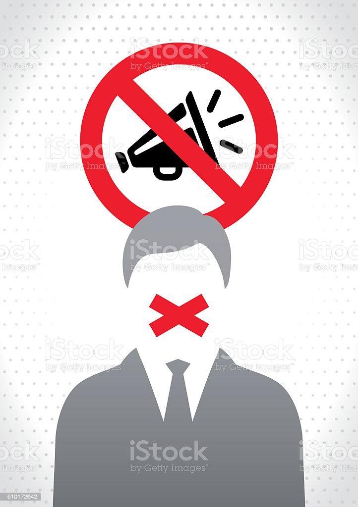 Freedom of speech concept vector art illustration