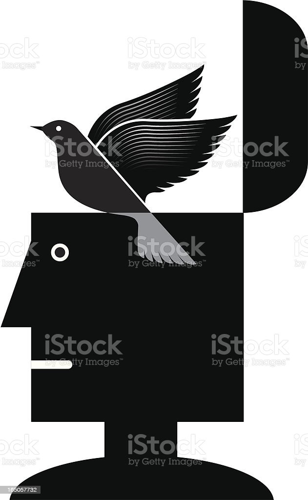 Freedom of thought royalty-free stock vector art