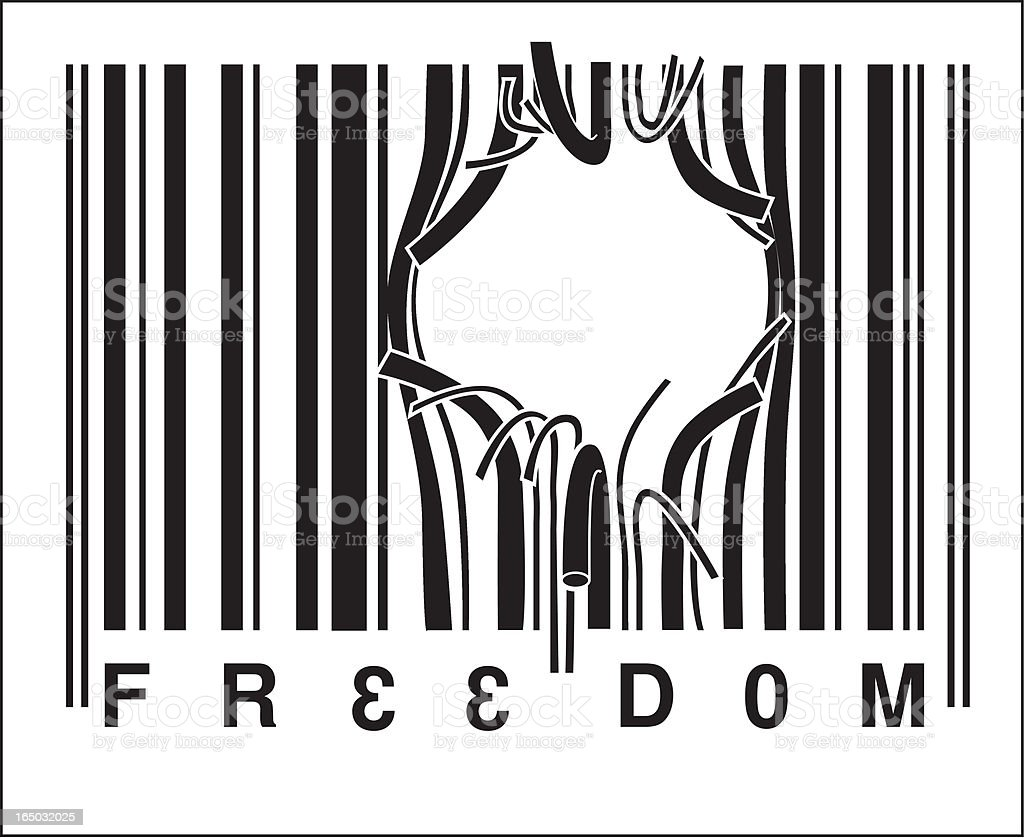 Freedom (vector) royalty-free stock vector art