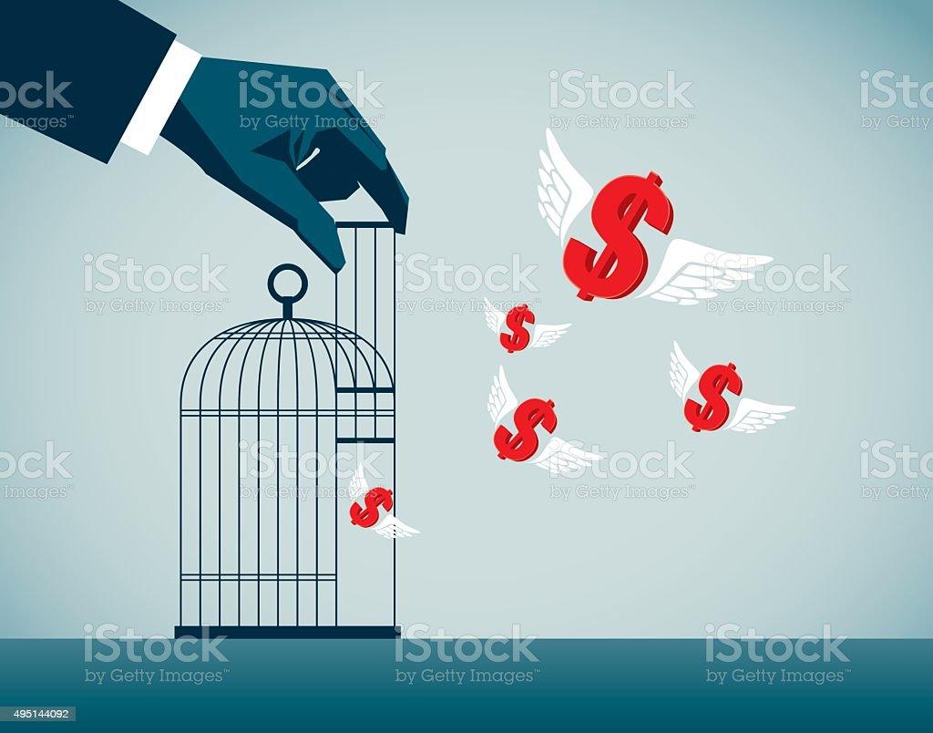 Freedom vector art illustration