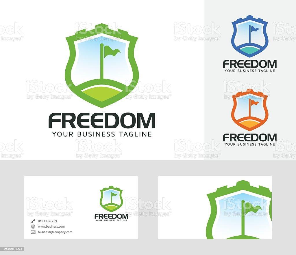 Freedom vector logo vector art illustration