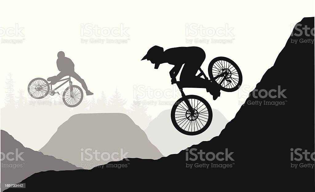 Freestyle Vector Silhouette vector art illustration