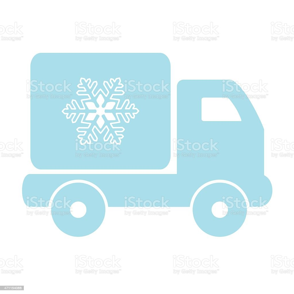 freezing car vector art illustration