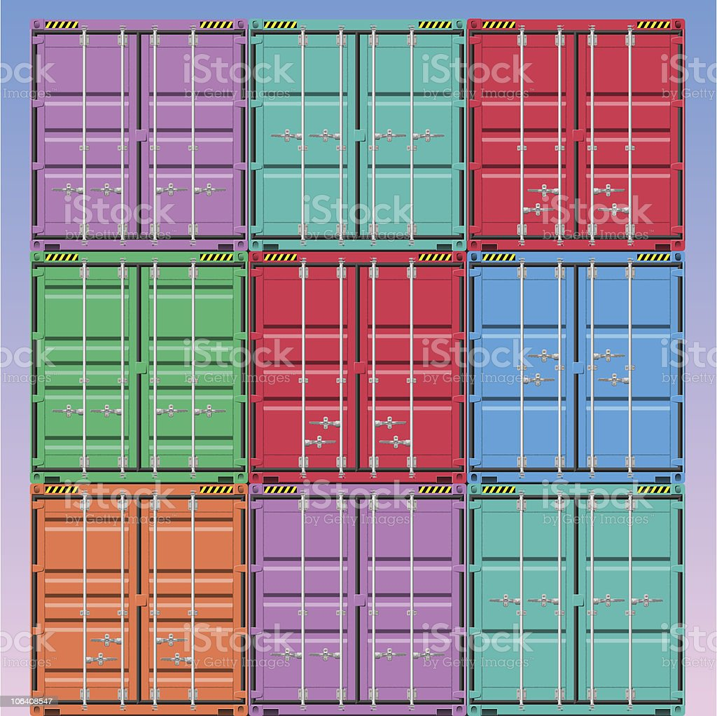 Freight Containers royalty-free stock vector art