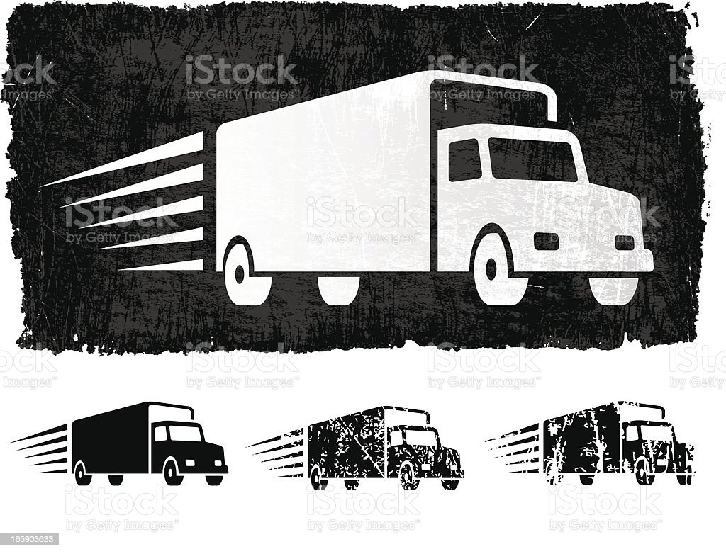 Freight Shipping royalty free vector Background vector art illustration