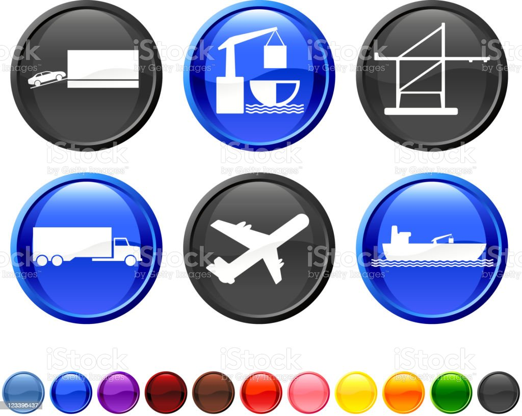 freight shipping royalty free vector icon set royalty-free stock vector art