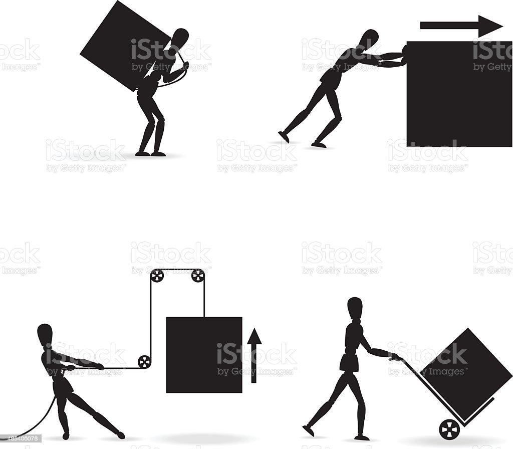 freight transport vector art illustration