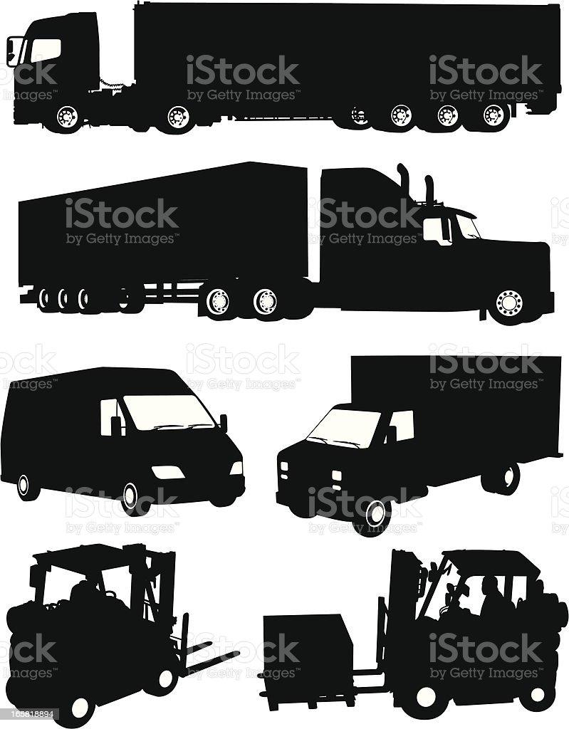 Freight transportation vector art illustration