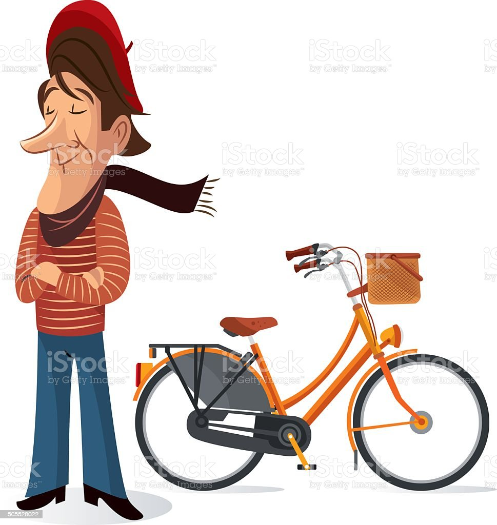 Frenc Man vector art illustration