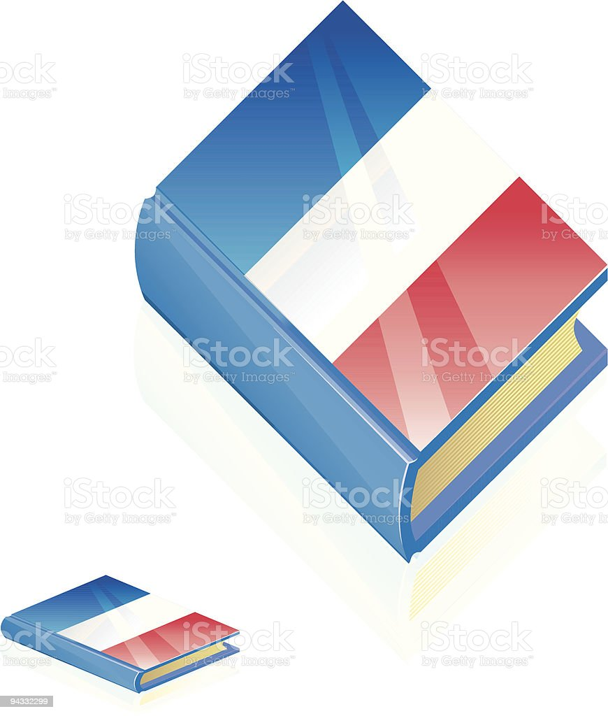 French Book Icon royalty-free stock vector art