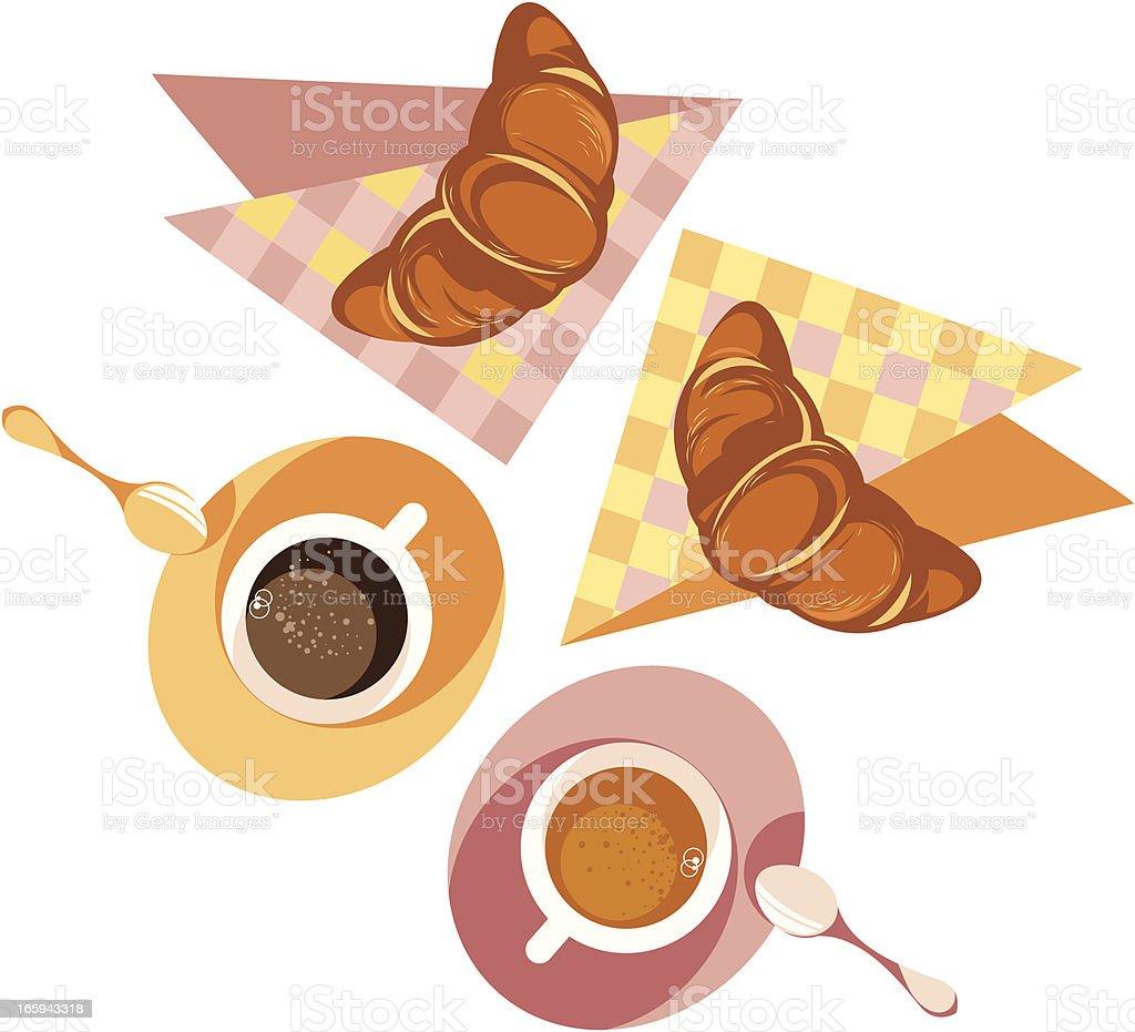 French breakfast. royalty-free stock vector art