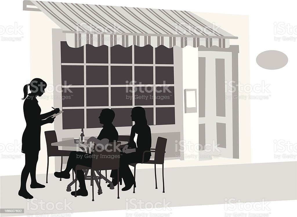French Cafe vector art illustration