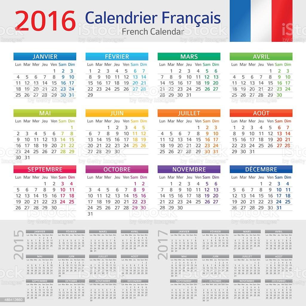 Französisch Kalender