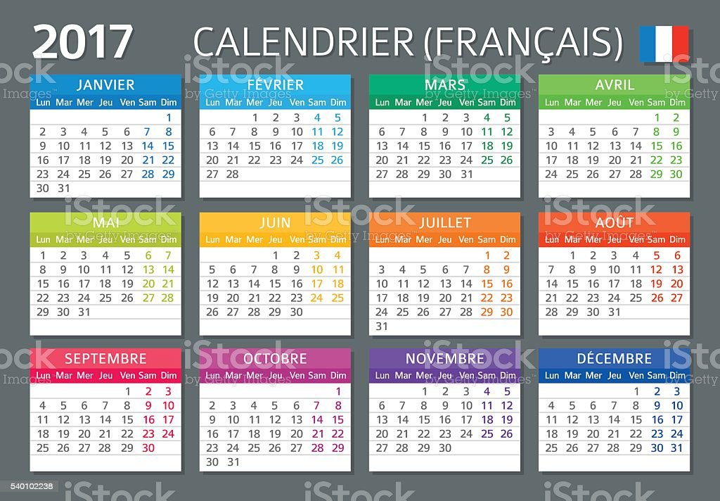 French Calendar 2017