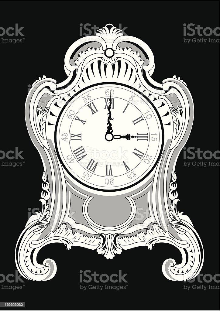 French clock vector art illustration