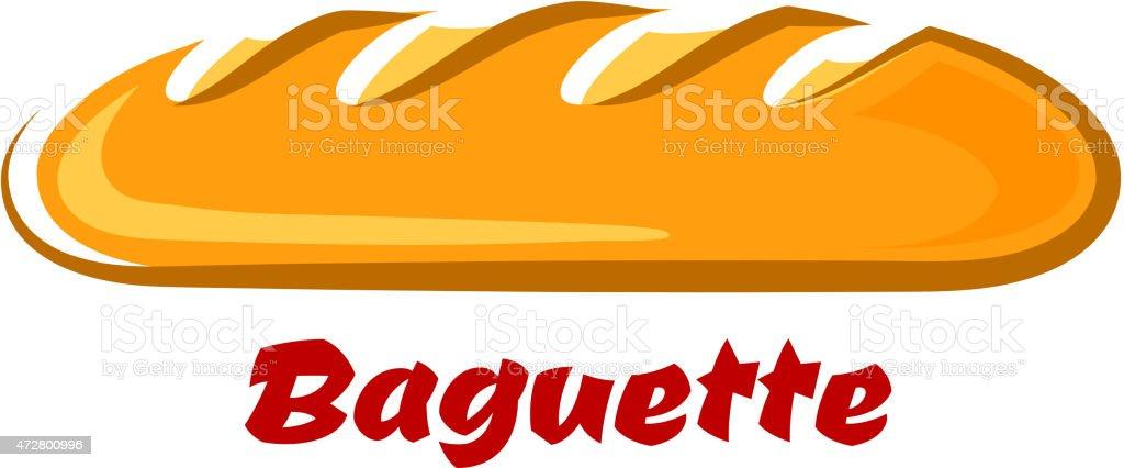 Französische küche comic  Französische Knuspriges Baguette Im Comicstil Vektor Illustration ...