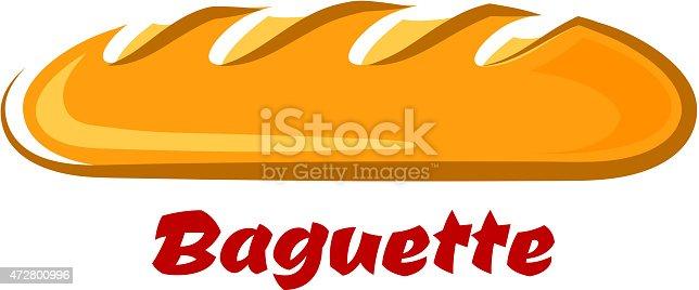 Französische Knuspriges Baguette Im Comicstil Vektor Illustration ... | {Französische küche comic 26}