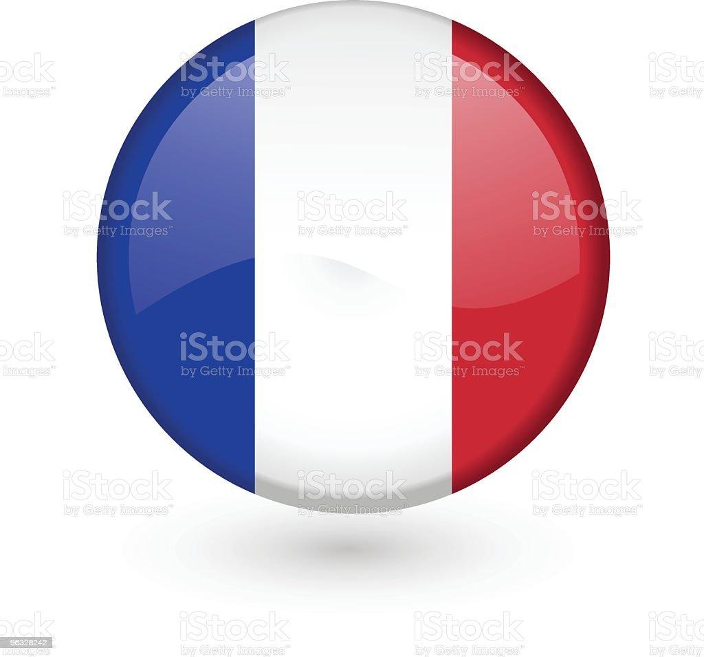 French flag vector button vector art illustration