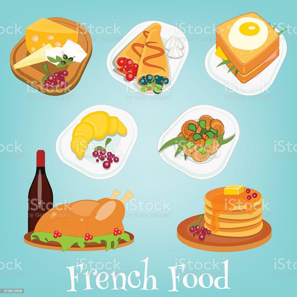französische küche satz vektor illustration 515312028 | istock