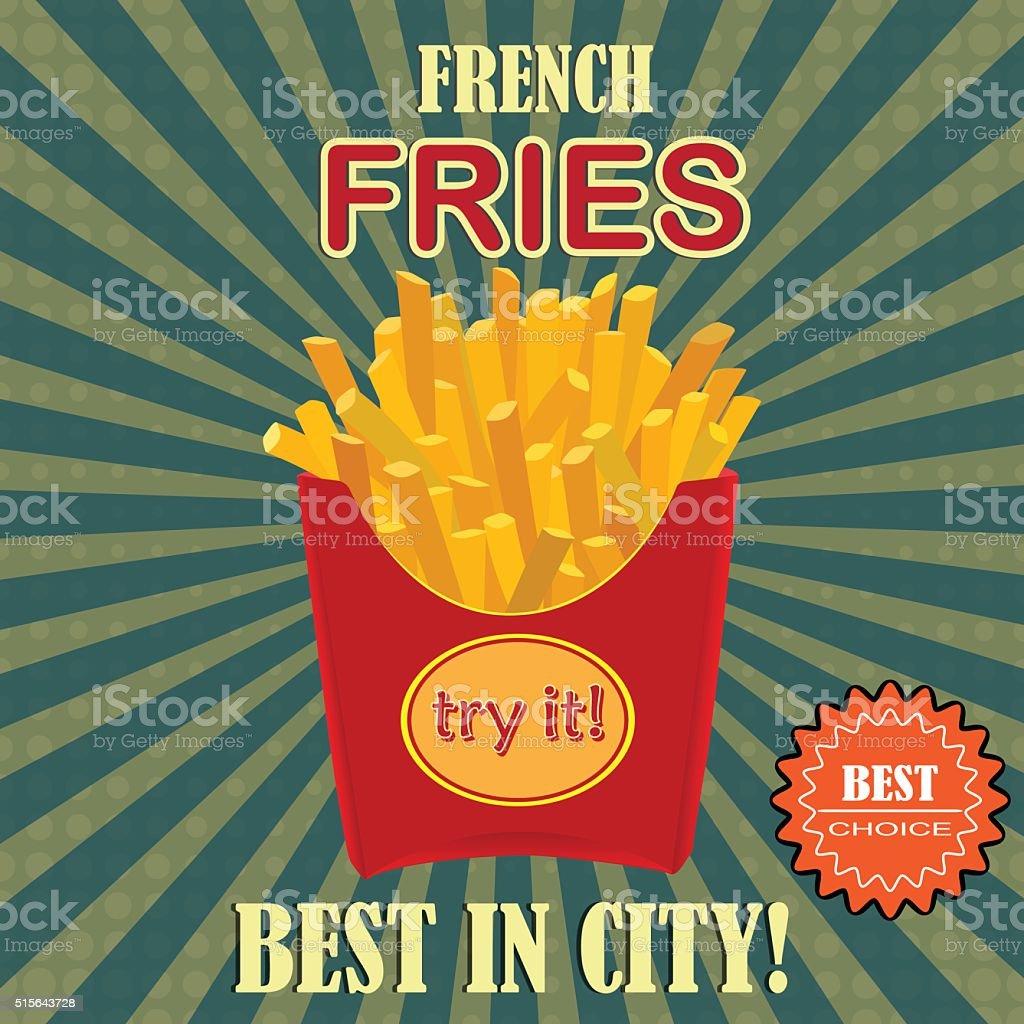 French fries potato vector art illustration