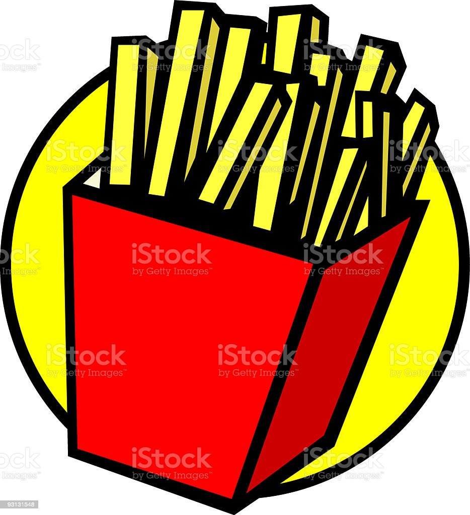 french fries royalty-free stock vector art