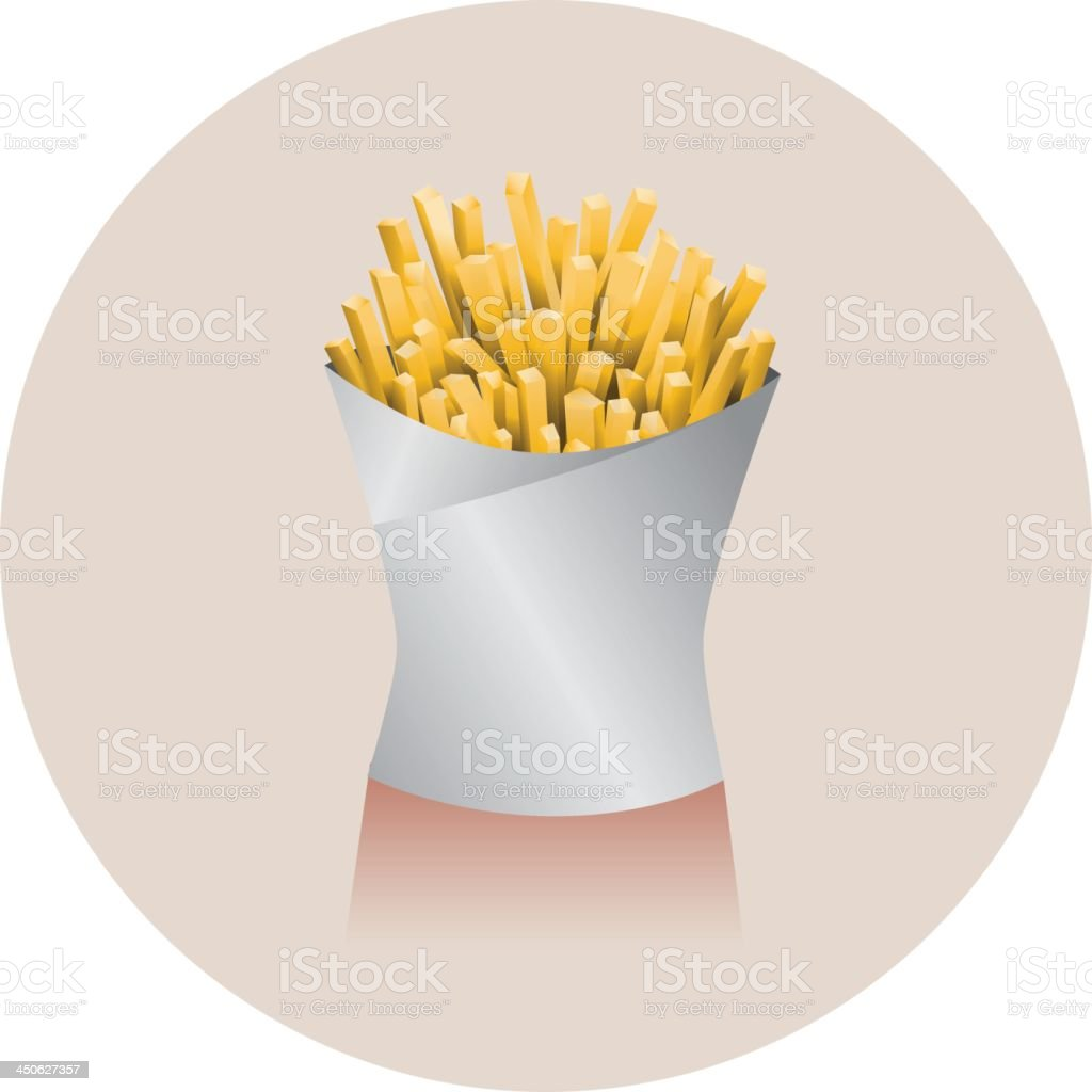 French frites royalty-free stock vector art