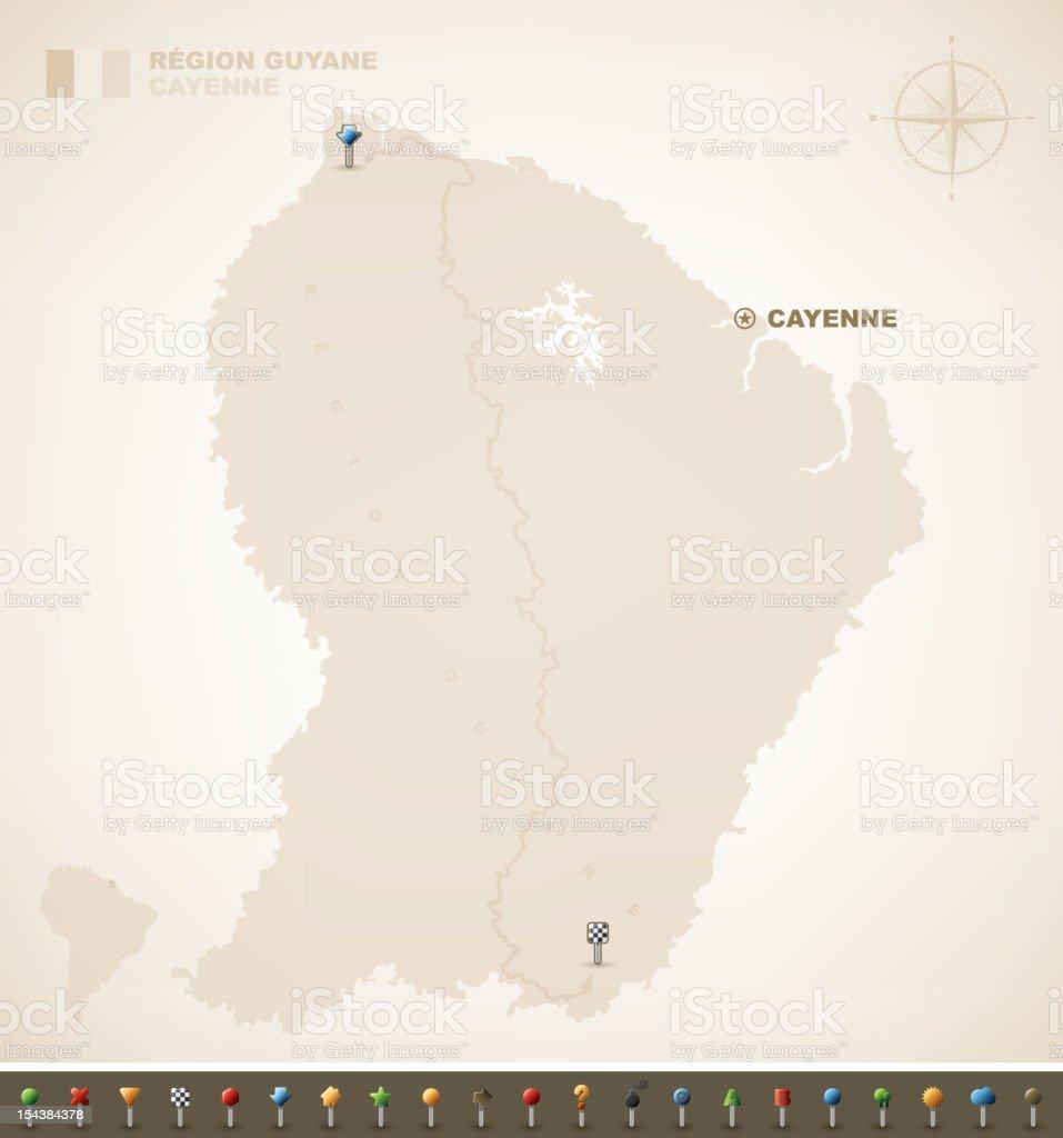French Guiana royalty-free stock vector art
