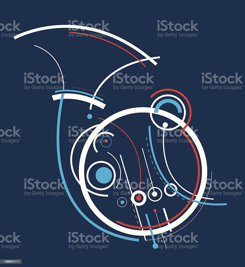 French Horn vector art illustration
