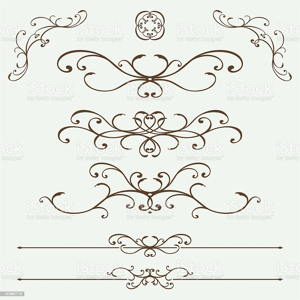 French Ironwork royalty-free stock vector art