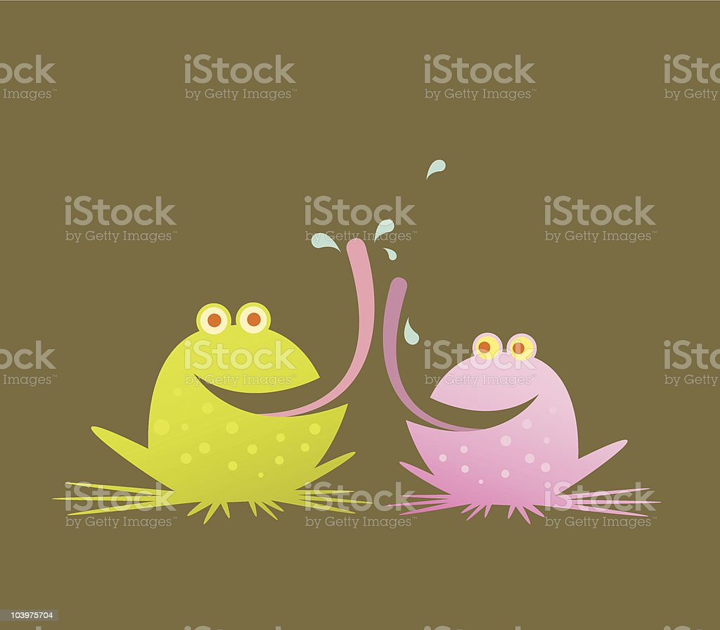 French Kiss royalty-free stock vector art