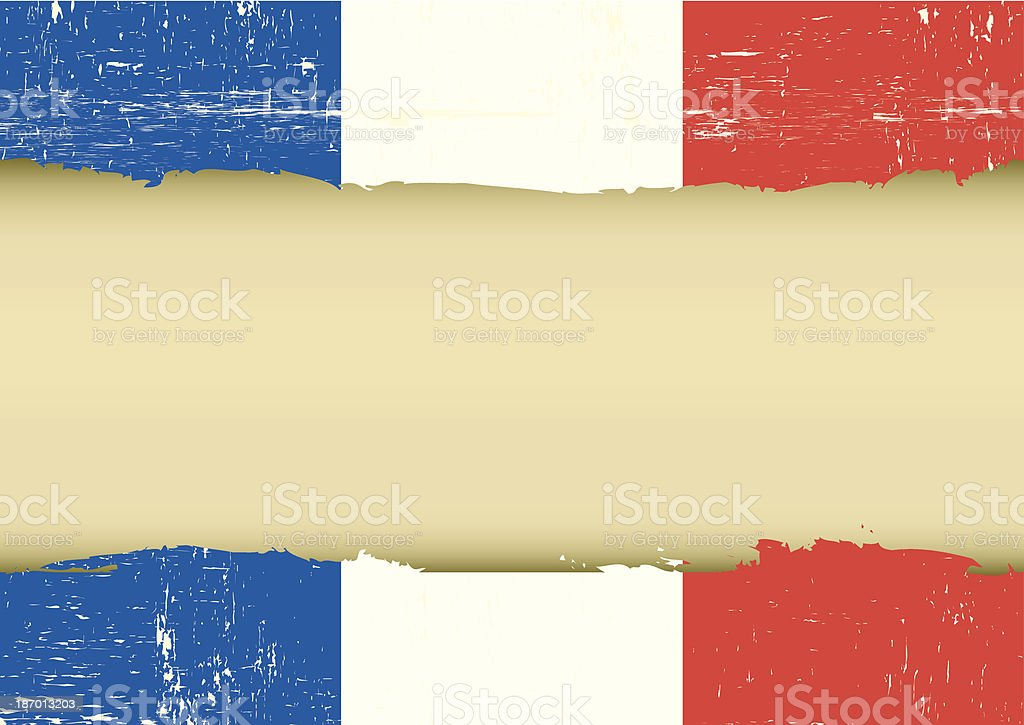French scratched flag royalty-free stock vector art