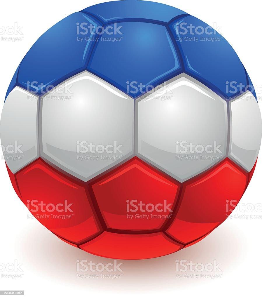 French soccer ball vector art illustration