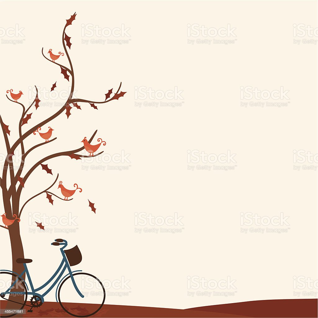 Fresh Air Bicycle royalty-free stock vector art