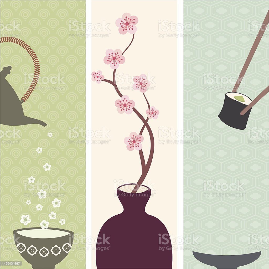 Fresh Air Japanese Banners vector art illustration