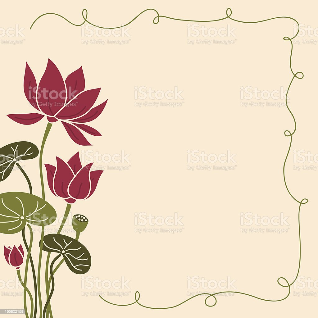 Fresh Air Lotus Frame vector art illustration