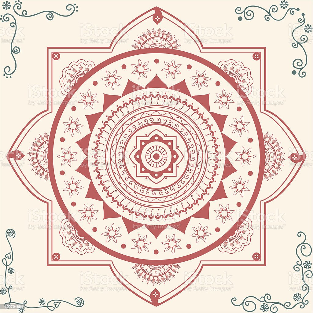 Fresh Air Mandala royalty-free stock vector art